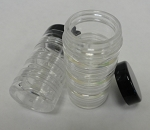 Stacker Jars 4 compartments with black top Qty 4