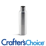 Silver Aluminum Bullet Bottle 2.5 oz. With Black Sprayer 24/410