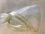 Ivory Organza Bag  10 Count