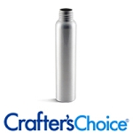 Silver Aluminum Bullet Bottle 4 oz. with black ribbed sprayers Qty of 12