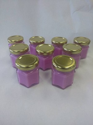 Hex jars 1.5 oz with lid/ 24 case