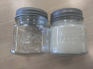 Mason jar 8 oz WITH WRITING 1 doz