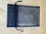 Organza Bags - Dark Blue 10 Count.