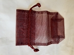 Organza Bags - Burgundy 10 Count.
