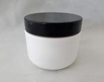 2oz White Double Wall with Black Flat Lid- 1 Dozen