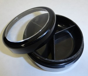 Round 3 divider Eye Shadow Loose Jar Qty 4