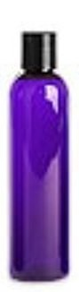One dozen 4 oz. Purple Cosmo's with black disc lotion lid